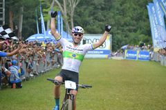 Henrique Avancini, Brazilian UCI MTB XCC World Champion in 2018 royalty free stock photo
