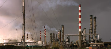 Petrorefinery Photographie stock