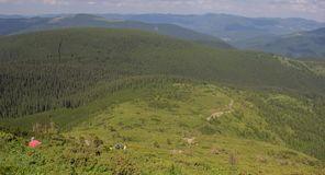 From Petros and Hoverla to Pop Ivan on the Montenegrin ridge royalty free stock photos