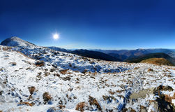 Petros peak and Svidovets ridge Stock Images