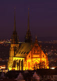 Petrov cathedral in Brno, Czech republic royalty free stock photo