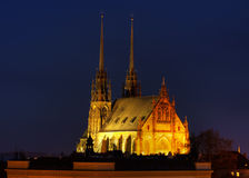 Petrov cathedral in Brno, Czech republic Stock Image