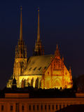 Petrov cathedral in Brno, Czech republic royalty free stock photography