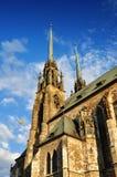 Petrov church brno. Petrov Church, gothic moravian cathedral in Brno, Czech Republic stock images