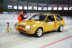 Petrov i Vereshagin w bieżnym samochodzie na lodzie w sportach powikłanych Zdjęcie Royalty Free