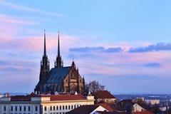 Petrov - St Peters i Paul kościół w Brno Środkowy Europa republika czech morawski region Fotografia Stock