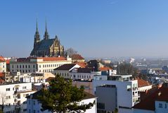 Petrov - St. Peters and Paul church in Brno. Central Europe Czech Republic. South-Moravian region. Stock Photos