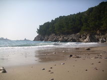 Petrovac, die alte Stadt, Montenegro-Strand neearby Stockfotos