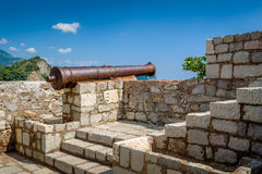Petrovac fortress cannon gun royalty free stock photography