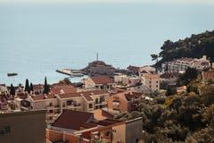 Petrovac miasteczko Montenegro zdjęcie stock