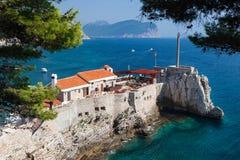 Petrovac, Montenegro. Harbor in Petrovac city, Montenegro Stock Photos