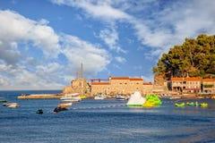 Petrovac na Adriatyckim Dennym wybrzeżu, Montenegro Fotografia Royalty Free