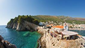 Petrovac Na Moru, Montenegro Stockfoto