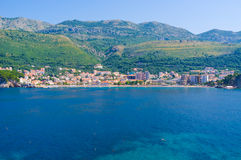 Petrovac from the sea Royalty Free Stock Photography