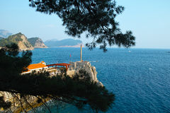 Petrovac town Mediterranean coast in Montenegro Stock Image