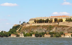 Petrovaradin. Beautiful castle petrovaradin in europe in front of danube Royalty Free Stock Image
