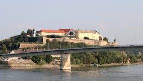 Petrovaradin Festung Novi traurig stock footage