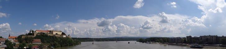 Petrovaradin forteca Ja panorama Obraz Royalty Free