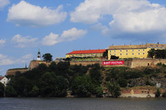 Petrovaradin Fortress during Exit festival Stock Images