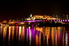 Petrovaradin fortress by night 5. Petrovaradin fortress by night, view from Novi Sad, this is a place of exit festival in Serbia Stock Image
