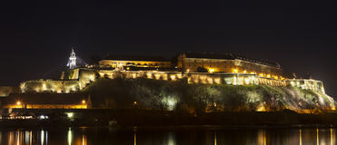 Petrovaradin Fortress in Novi Sad at night Stock Images