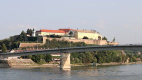 Petrovaradin fortress Novi Sad stock footage
