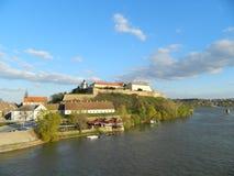 Petrovaradin fortress. Fortress in Petrovaradin, Serbia. Look from bridge Stock Photo