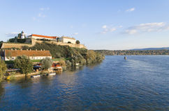 Petrovaradin Fortress. Is an 18th century fortress located on the right bank of the Danube river in Novi Sad, in the province of Vojvodina, Serbia Stock Image