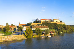 Petrovaradin Fortress. Is an 18th century fortress located on the right bank of the Danube river in Novi Sad, in the province of Vojvodina, Serbia Stock Photo