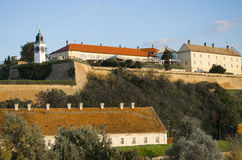 Petrovaradin Fortress. Is an 18th century fortress located on the right bank of the Danube river in Novi Sad, in the province of Vojvodina, Serbia Royalty Free Stock Image