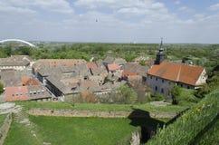 Petrovaradin, vista da fortaleza Imagens de Stock Royalty Free