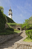 Petrovatdin fortress in Novi Sad, Serbia. Clocktower of Petrovatdin fortress in Novi Sad, Serbia Royalty Free Stock Photography