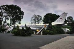 Petrovice, Ustecky kraj, republika czech - Czerwiec 09, 2019: samolotu Tupolev T-104 dzisiaj funkcjonuje jako restauracja obrazy royalty free
