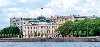 Petrovskaya embankment in St.Petersburg Royalty Free Stock Photo