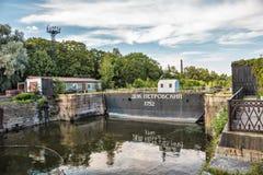 Petrovsky dock gate. Kronstadt, Russia Royalty Free Stock Image