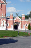 The Petrovsky Palace  The Gates The towers  July Royalty Free Stock Image