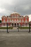 Petrovsky travelling palace, neoghotic red bricked architecture. Moscow Stock Images