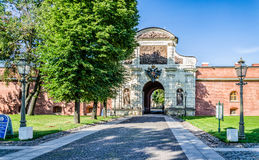 The Petrovsky (Peter's) gate. Stock Photo