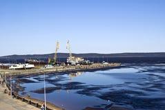 Petrozavodsk: De kade van Onega Royalty-vrije Stock Foto