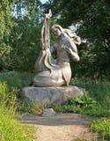Petrozavodsk Mélodie de sculpture en parc côtier Image libre de droits