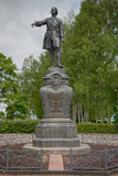 Petrozavodsk. Monument to Peter the Great. Royalty Free Stock Photography