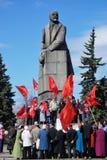 PETROZAVODSK, RÚSSIA ? O 1º DE MAIO: membros do partido comunista ral Fotos de Stock Royalty Free