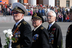 PETROZAVODSK, RUSSIA � MAY 9: Soviet World War II veterans on Vi Royalty Free Stock Photo
