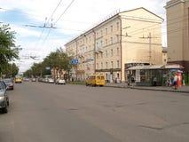 Petrozavodsk, Russia. Lenin Avenue in summer Royalty Free Stock Photos