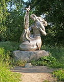 Petrozavodsk. Sculpture Melody in Coastal park Royalty Free Stock Image