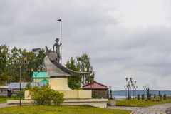 Petrozavodsk sculpture. There are a lot of sculptures on the embankment in Petrozavodsk Stock Images