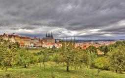 Petrshinskie ogródy Praga cesky krumlov republiki czech miasta średniowieczny stary widok Obrazy Stock