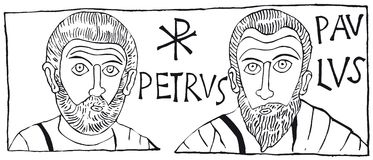 Petrus Paulus (vector). Vector drawing (cmyk to rgb Royalty Free Stock Images