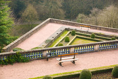 Petrusse Park terraces - Luxembourg City Royalty Free Stock Photos