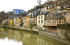 Petrusse Valley in  Luxembourg city Stock Photography
